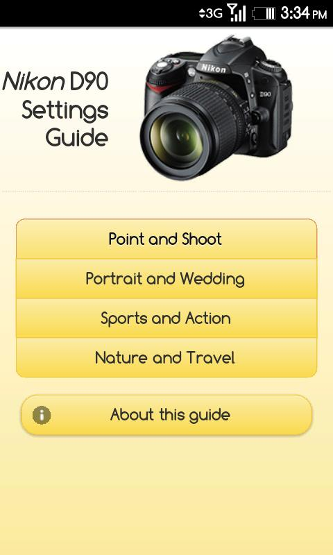 Nikon D90 Settings Guide- screenshot