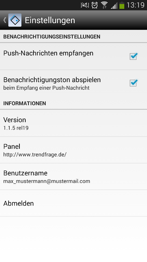 Trendfrage- screenshot