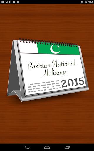 Pakistan Holidays 2015