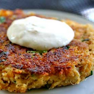 Spicy Crab Cakes with Horseradish Mayo.