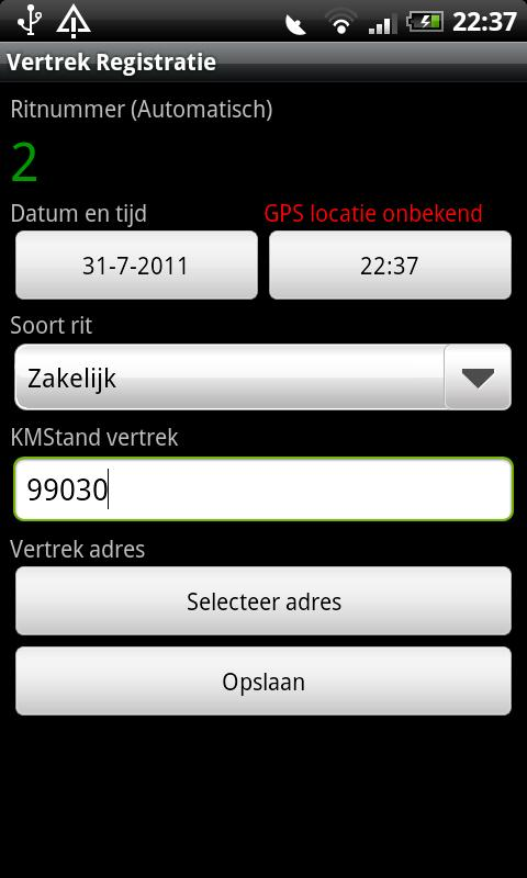 Kilometer Registratie PRO - screenshot