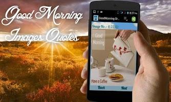 Screenshot of Good Morning Greeting Cards