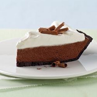 Chocolate Silk Pie with Marshmallow Meringue.