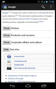 Wikidroid (Wikipedia Browser) - screenshot thumbnail