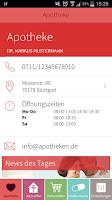 Screenshot of ApothekenApp