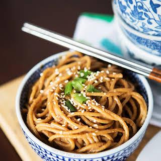 Cold Spicy Peanut Sesame Noodles.