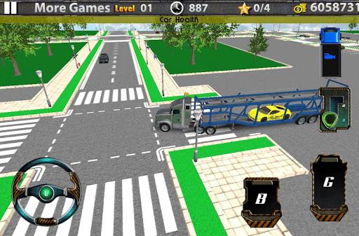 3D汽車運輸拖車的卡車