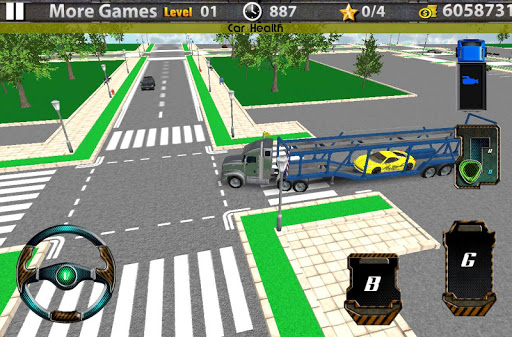 3D汽车运输拖车的卡车