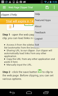 Web Page Clipper Trial- screenshot thumbnail
