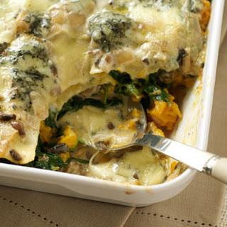 Spinach, Mushroom And Squash Lasagne