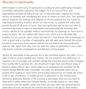 Spirituality-Articles 1