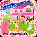 Niños decorar juegos icon