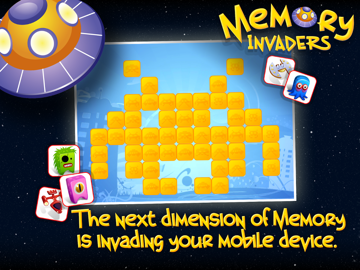 Memory Invaders FREE- screenshot