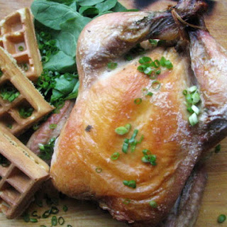 Roast Chicken with Herb Waffles