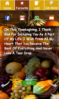Screenshot of Happy Thanksgiving Wishes
