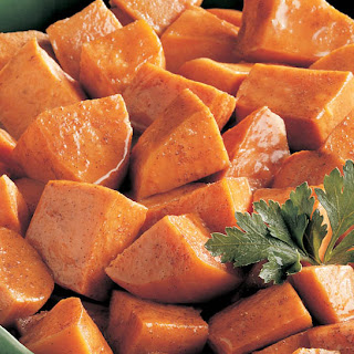 Oven Baked Candied Sweet Potatoes.