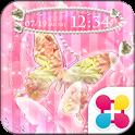 蝶の姫系壁紙 Pearl Pink Butterfly