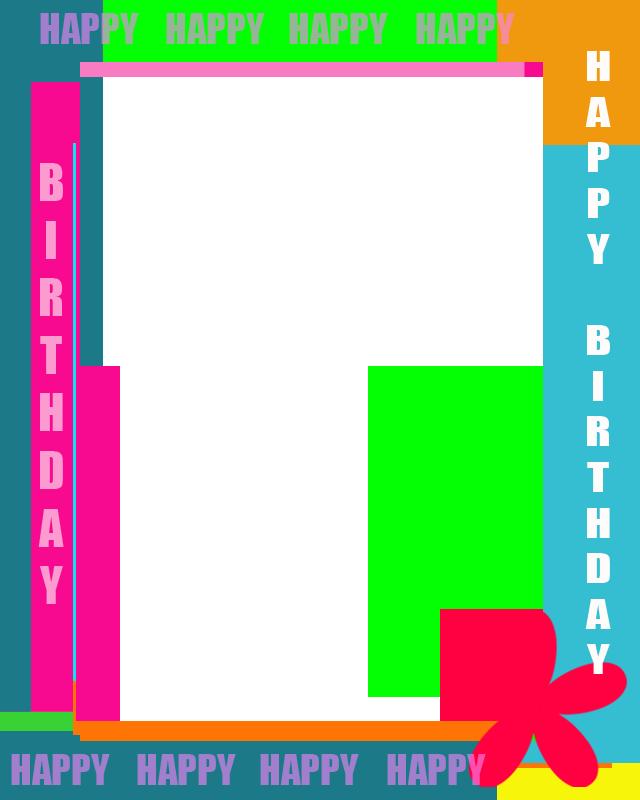 Birthday Frames And Borders Happy Birthday Magazine Frame