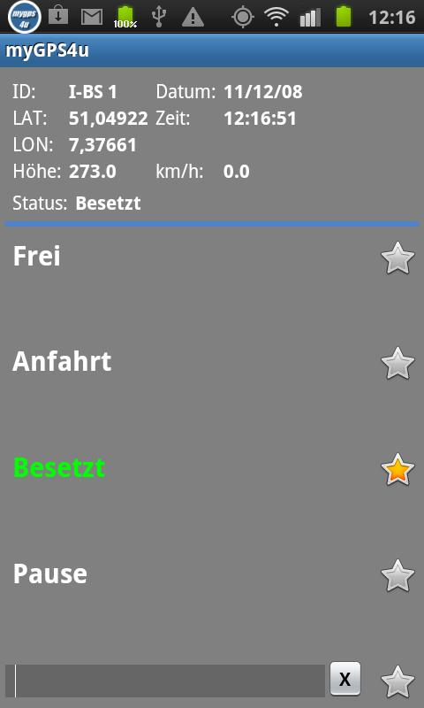 myGPS4u - screenshot