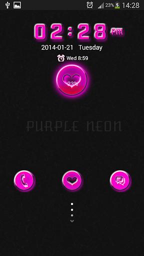 玩免費個人化APP|下載GO锁屏紫色霓虹灯 app不用錢|硬是要APP