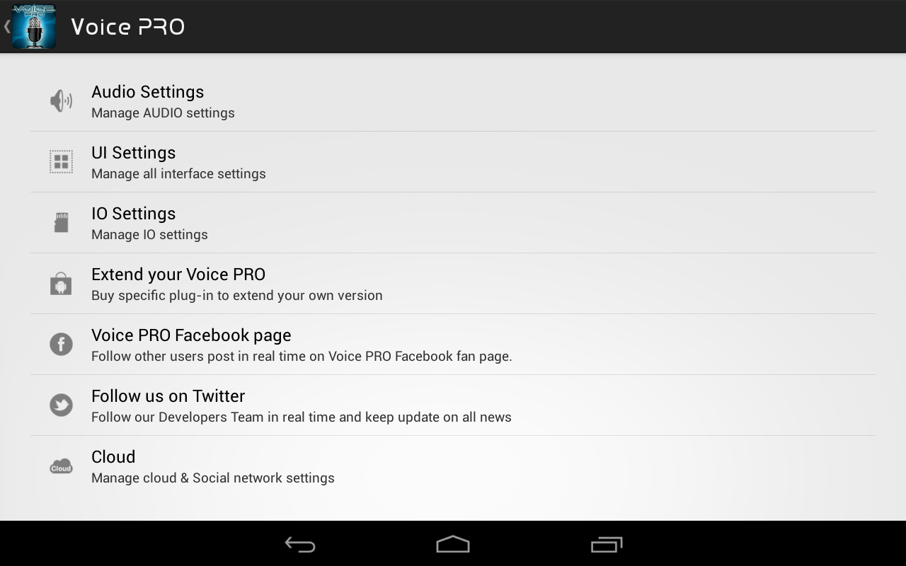 Voice PRO - HQ Audio Editor- screenshot