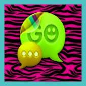 Go SMS Theme Zebra Style