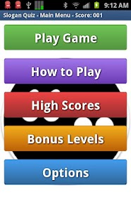Slogan Quiz Game- screenshot thumbnail