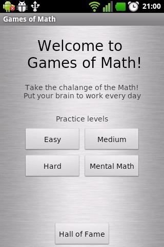 Games of Math