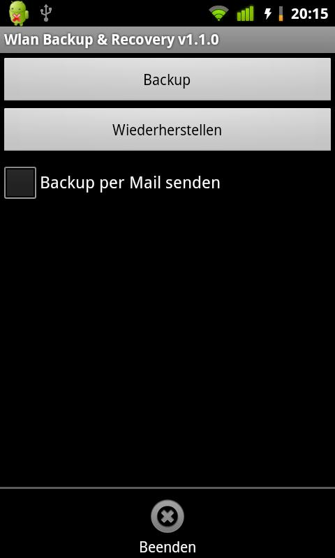 Wlan Backup & Recovery (root) - screenshot