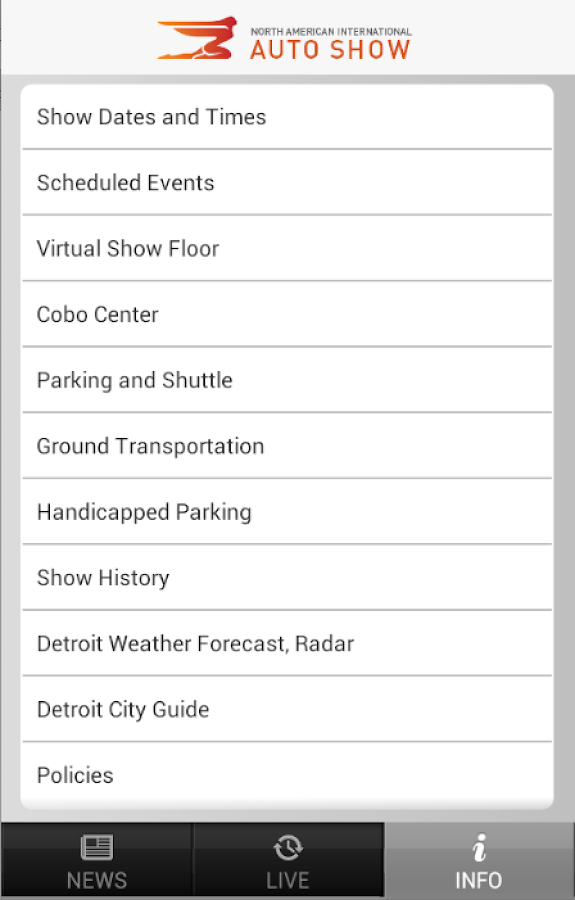 Detroit Auto Show - NAIAS - screenshot