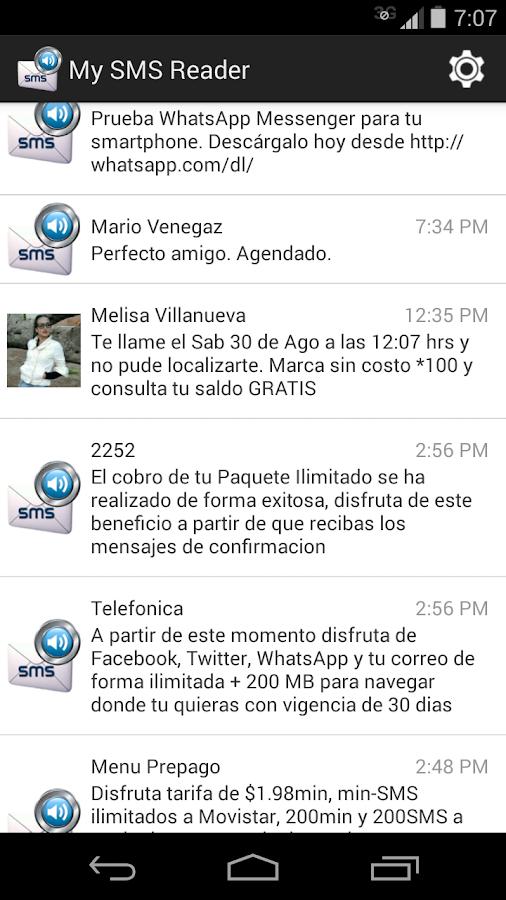My SMS Reader - screenshot