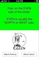 Screenshot of Elgin Parking