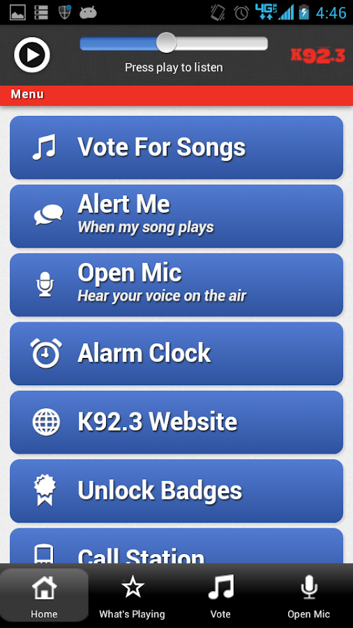 K92.3 - screenshot