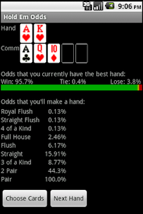 Texas Hold Em Odds - screenshot thumbnail