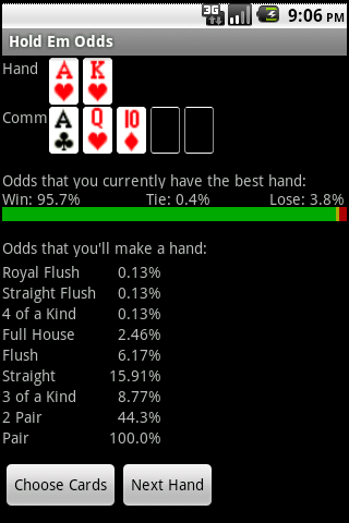 Texas Hold Em Odds - screenshot