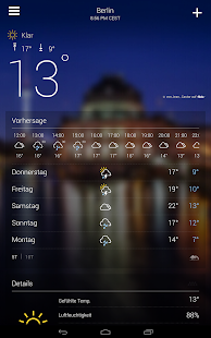 Yahoo Wetter Screenshot