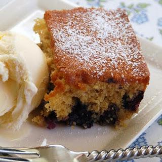 Blueberry-Brown Sugar Plain Cake