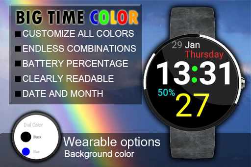 BIG TIME 24H COLOR WATCH FACE