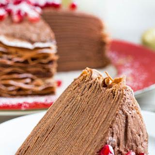 Chocolate Mousse Crepe Cake.