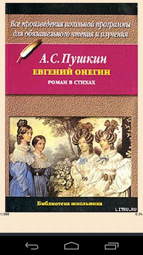 Евгений Онегин роман в стихах