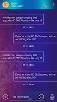 Screenshot of GO SMS PRO BERRYMUSIC THEME