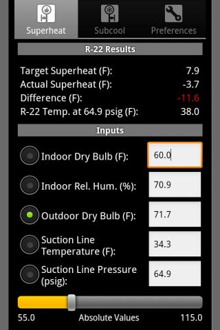 HVAC Refrigerant Charge- screenshot