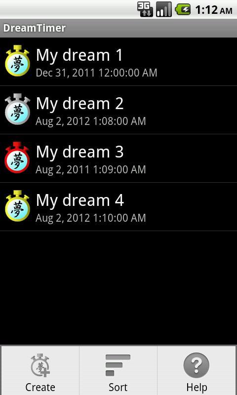 DreamTimer- screenshot