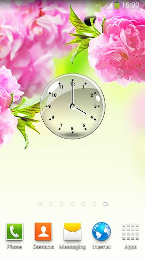 透明な 時計ウィジェット