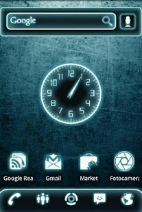 Glow Legacy Clock Widget - screenshot thumbnail