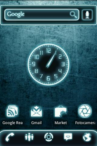 Glow Legacy Clock Widget- screenshot