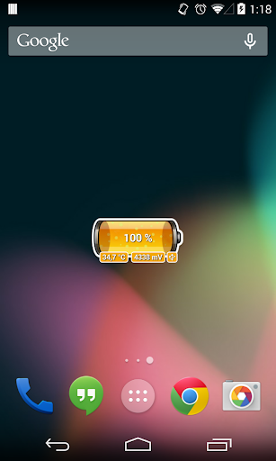 [Battery Theme] Bubbles Orange