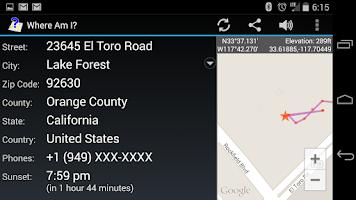 Screenshot of Where Am I?