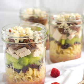 Sonoma Chicken Pasta Salad Jars.