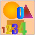 Bé học số và hình khối icon